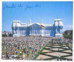 """Christo and Jeanne-Claude, '""""Wrapped Reichstag"""" Project, SIGNED, Offset Color Lithographic Poster LARGE', 1995"""