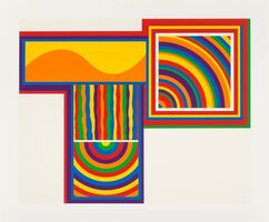 Sol LeWitt, 'Arcs and Bands in Color: one plate', 1999