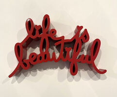 Mr. Brainwash, 'Life is Beautiful (Red)', 2020