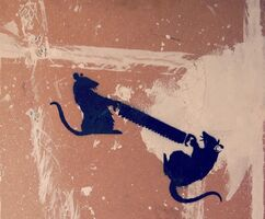 Banksy, 'Two Rats With Saw', ca. 2003