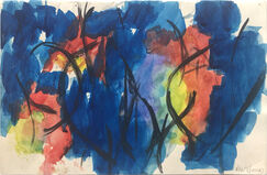 Untitled (Blue, black, red, yellow green and violet)