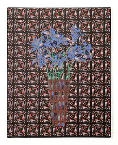 Jeffrey Augustine Songco, 'Blue Flowers in a Brown Vase', 2020