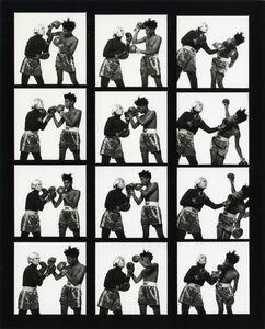Michael Halsband, 'Andy Warhol & Jean-Michel Basquiat #121-#132 (contact sheet 11) New York City July 10, 1985', 1985