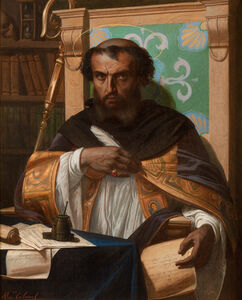 Alexandre Cabanel, 'Saint Augustine in his Study'