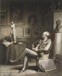 Honoré Daumier, 'The Connoisseur', ca. 1860–1865