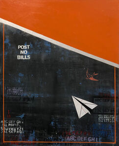 Guy Stanley Philoche, 'Orange with Paper Airplane', ca. 2019
