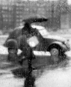 Sabine Weiss, '2CV sous la pluie, Paris', 1957