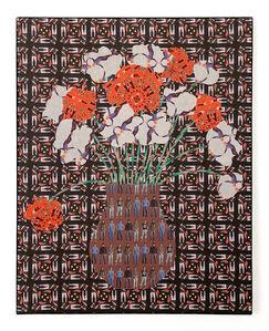 Jeffrey Augustine Songco, 'Red and White Flowers in a Brown Vase', 2020