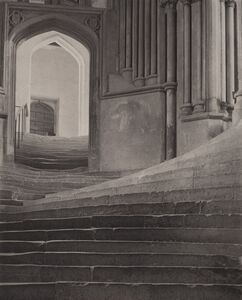 Frederick Henry Evans, ''A Sea of Steps', Wells Cathedral, Steps to Chapter House', 1903