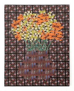 Jeffrey Augustine Songco, 'Orange and Yellow Flowers in a Brown Vase', 2020