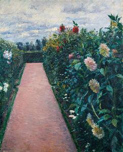 Gustave Caillebotte, 'Garden Path with Dahlias in Petit Gennevilliers', 1890-1891