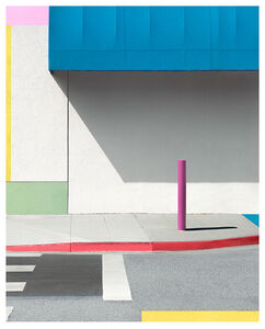 George Byrne, 'Blue Awning With Pink', 2017