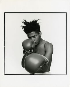 Michael Halsband, 'Andy Warhol & Jean-Michel Basquiat #114, July 10, 1985, New York City', 1985