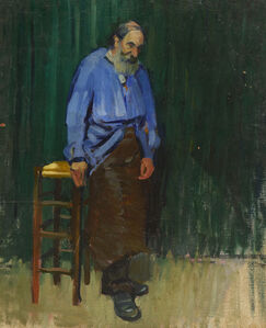 Leopold Pilichowski, 'The Labourer (Old Man in a Blue Smock)', Undated