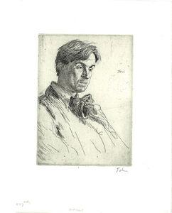 Augustus John, 'William Butler Yeats', 1907