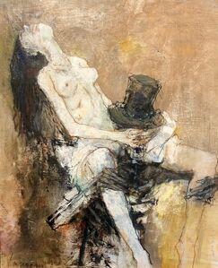 Jean Jansem, 'La jeune fille et la mort, sketch', 1998