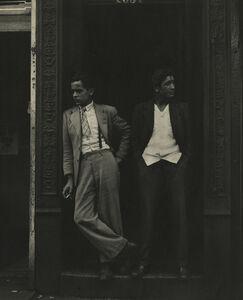 Sy Kattelson, 'Two Men in Doorway', 1948