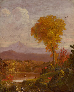 Thomas Cole, 'Reclining Figure in a Mountain Landscape', ca. 1845-1847