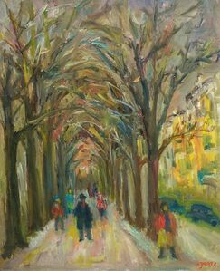 Jacques Zucker, 'Tree Lined Park Path', Mid-20th Century