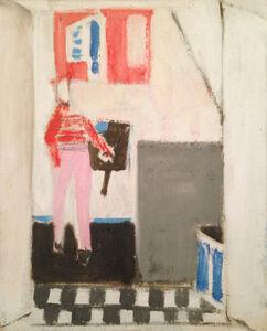 Janice Biala, 'Figure rouge dans un interieur', 1974