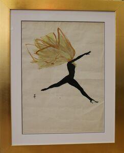 René Gruau, 'Drawing of a Dancer, by René Gruau, France', ca. 1950