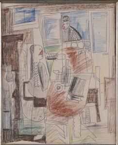 Henryk Streng/ Marek Włodarski, 'Woman at the table', 1925