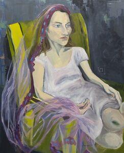 Jemima Kirke, 'Woman On Chair with Veil', 2017