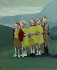 David Storey, 'Five children on a hillside'