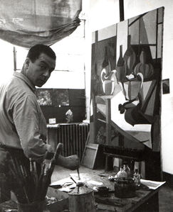 Pasquale de Antonis, 'Renato Guttuso portrait', 1946