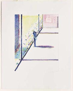 Wayne Thiebaud, 'Untitled (Man at Window)', 1991