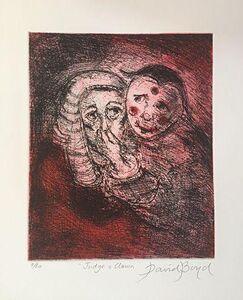 David Boyd (1924-2011), 'Judge and Clown (Red)', ca. 2005