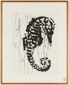 Nino Longobardi, 'Arte Povera Italian Modernist Composition Drawing Painting Sea Horse with Nude', 1980-1989