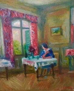 Jacques Zucker, 'Woman in Salon', 20th Century