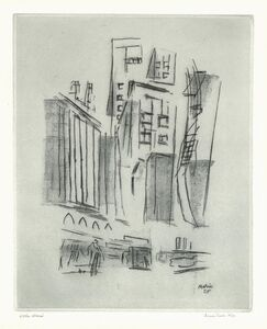 John Marin (1870-1953), 'Downtown Synthesis.', 1925