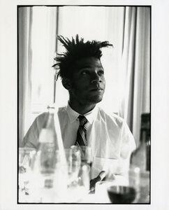 Michael Halsband, 'Jean-Michel Basquiat, Breakfast Set #1, July 1985 Lisbon, Portugal', 1985