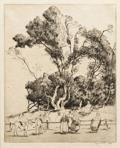 Alfred Hutty, 'Gossips, Ile de Noirmoutier', c. 1927