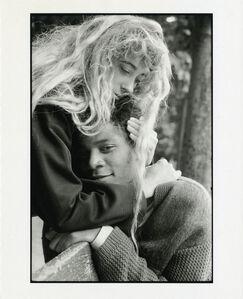 Michael Halsband, 'Jean-Michel Basquiat and Jennifer Goode, Jardin des Tuileries, Paris, France exp. 1, July 1985', 1985