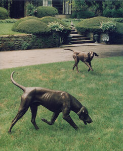J. Clayton Bright, 'Couple of Foxhounds', 1990