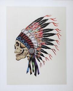 Wes Lang, 'Warrior Skull', 2012