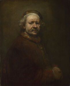 Rembrandt van Rijn, 'Self Portrait at the Age of 63', 1669