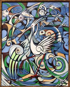 Alex Beard, 'Fish and Bird Study', 2015