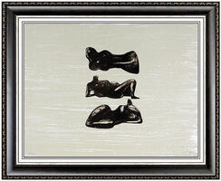 Henry Moore, 'HENRY MOORE Lithograph HAND SIGNED Reclining Figures Sculpture Art Bronze Study', 20th Century