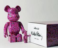 Keith Haring, 'Keith Haring Bearbrick 400% & 100% (Haring BE@RBRICK)', 2018