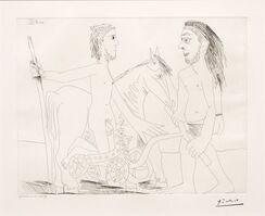 Pablo Picasso, 'Television: Combat de Chars a l'Antique, from the 347 Series', 1968