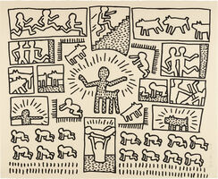 Keith Haring, 'Blueprint Drawing: one plate', 1990
