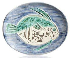 Pablo Picasso, 'Madoura Ceramic Plate- POISSON BLEU , Ramié 180', 1950-1959