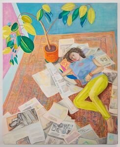 Aliza Nisenbaum, 'Kayhan reading the New York Times (Resistance Begins at Home) ', 2017