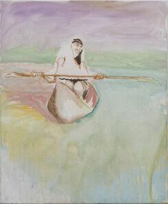 Siegfried Anzinger, 'Frau im Kanu', 2011