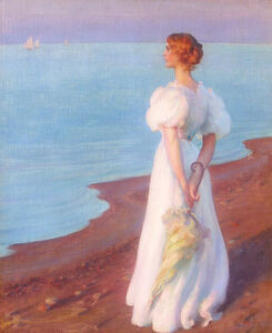 Charles Courtney Curran, 'On the Shore of Lake Erie', 1906