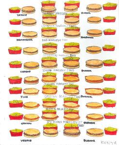 Kenya Hanley, 'Burgers and Fries', 2017
